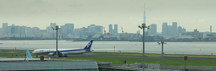 20170208_羽田空港とスカイツリー